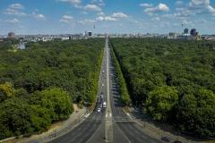 Le parc central de Tiergarten et l'avenue du 17 juin